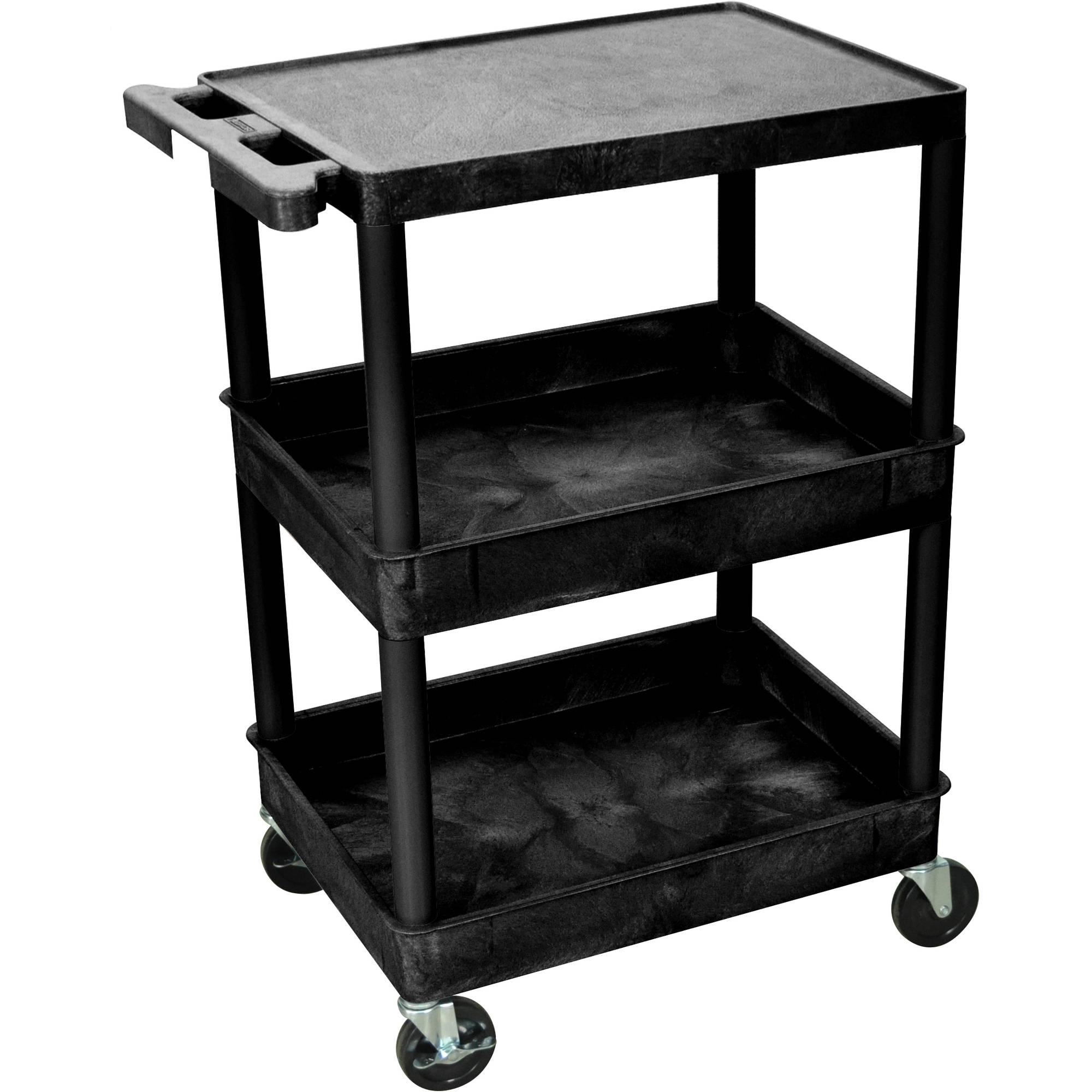 Luxor Flat Top and Tub Middle and Bottom Shelves Cart