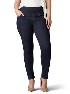 Lee Women's Plus Sculpting Slim Fit Skinny Pull On Jean