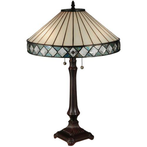 Meyda Tiffany 134537 Diamondring 2-Light Desk Lamp by Meyda Tiffany