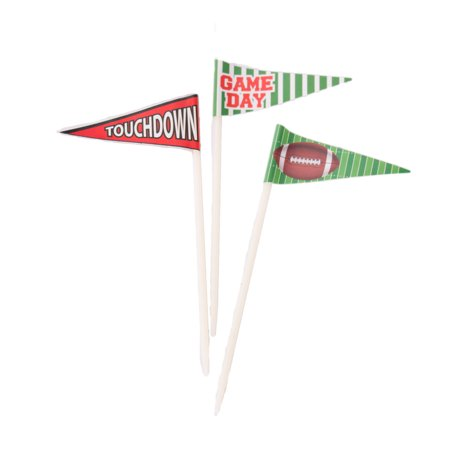 Forum Assorted Footlball Party Flag 36pc 2