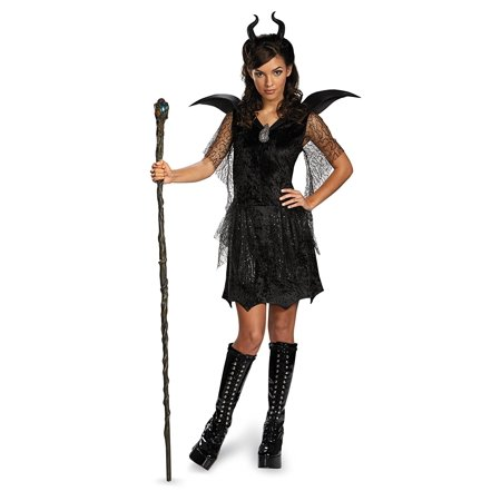 Disney Maleficent Movie Black Gown Tween Deluxe Costume, Medium/7-8, Quality materials used to make Disguise products By - Good Halloween Movies For Tweens