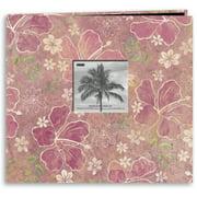 """Tropical Post Bound Album 12""""X12""""-Hibiscus"""