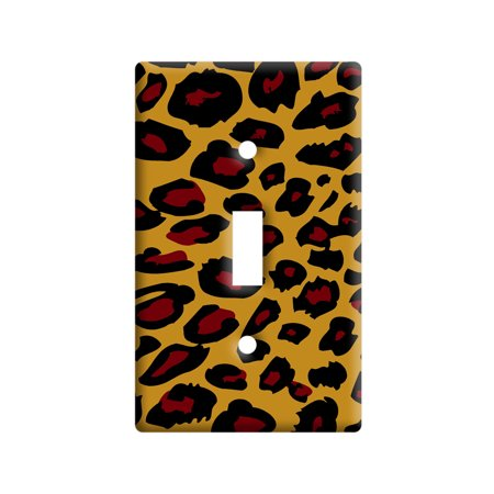 Leopard Animal Print Light Switch Plate Cover