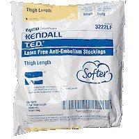 T.E.D Thigh Length Anti-Embolism Stockings, Latex-Free, Small Long, White EA/1