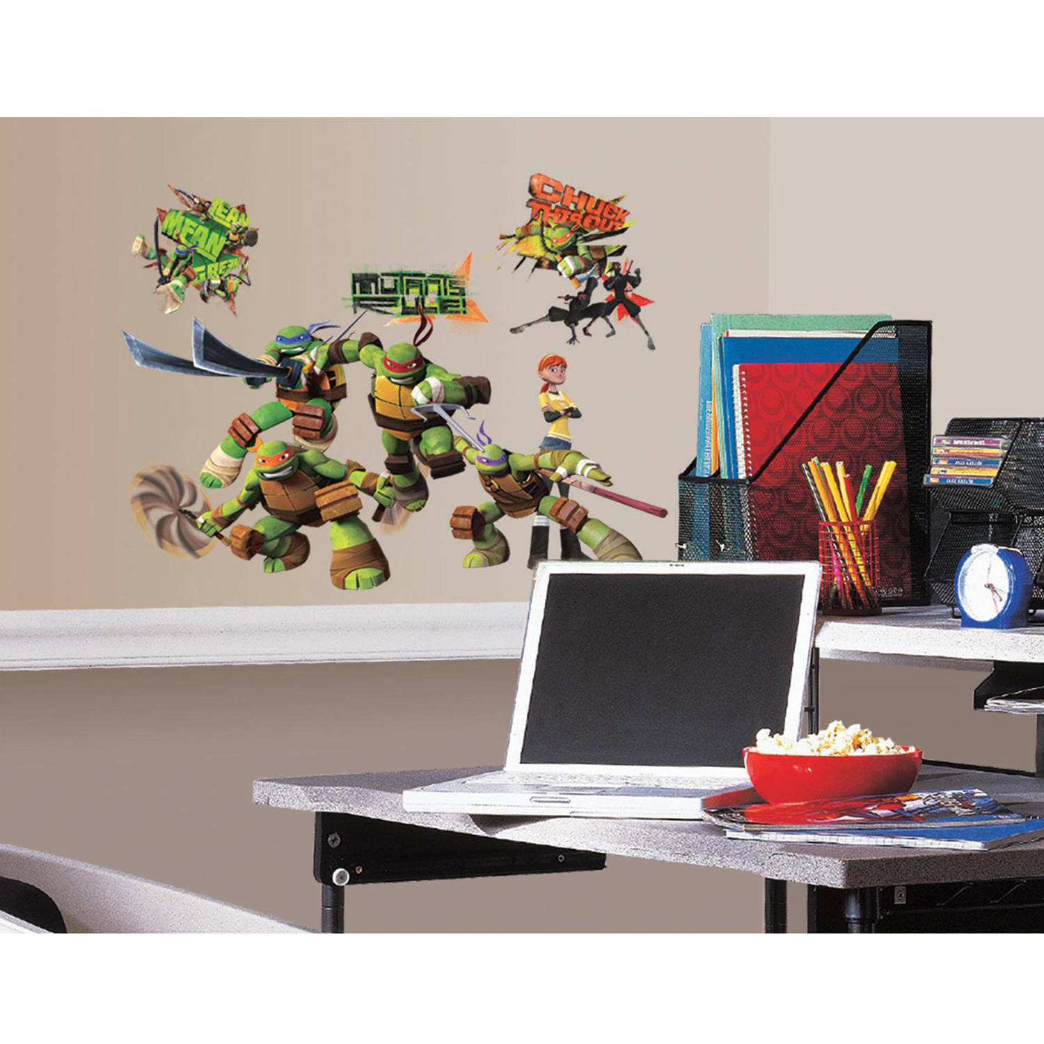 Turtle Wall Decor teenage mutant ninja turtles peel & stick wall decals