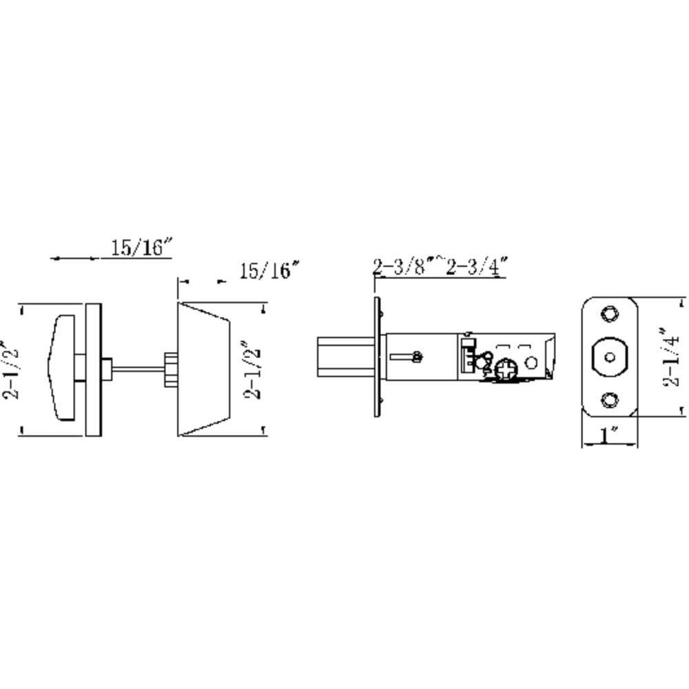 Design House 791665 Single Cylinder 2 Way Adjustable Deadbolt Oil A B C Circuit Diagram Rubbed Bronze