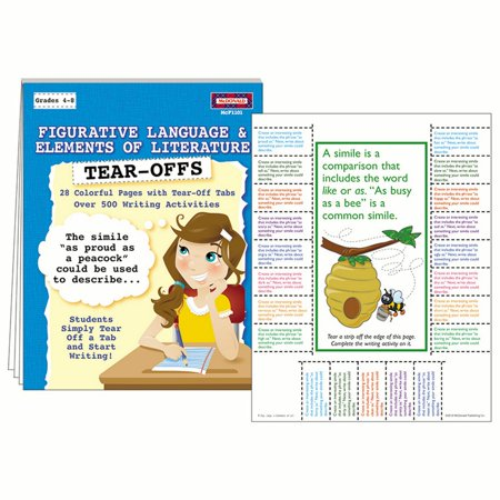 FIGURATIVE LANGUAGE & ELEMENTS OF LITERATURE TEAR OFFS (Halloween Stories With Figurative Language)