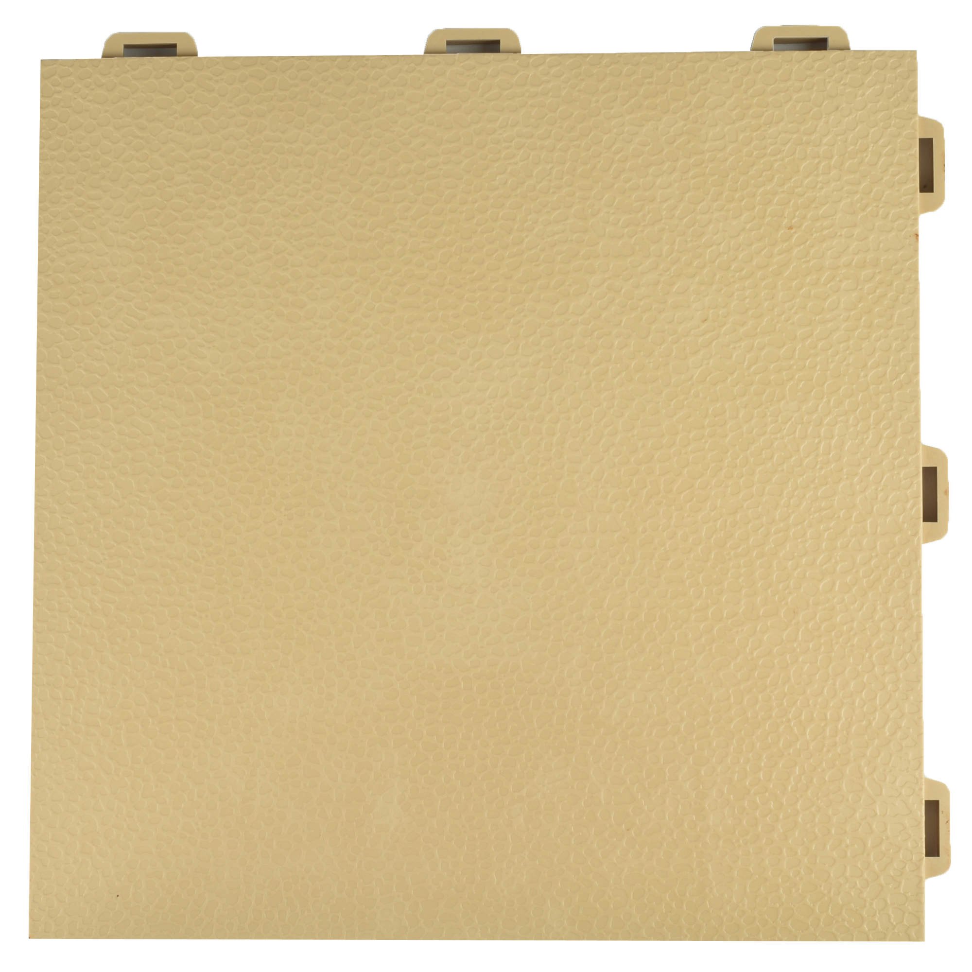 Greatmats PVC Plastic Interlocking Basement Floor Tile 12 in. x 12 in. x 0.56 in. StayLock Orange Peel Top Green 26 Pack