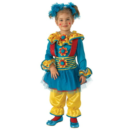 Girls Dotty The Clown Costume - Clown Halloween Costume Star Clown Girl