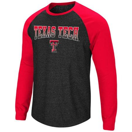 Mens Texas Tech Red Raiders Long Sleeve Raglan Tee Shirt - M (Texas Tech 2017 Halloween)