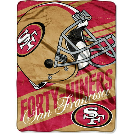 San Francisco 49ers NFL 46x60 Deep Slant Micro Raschel Plush Throw