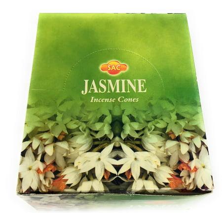 SAC Incense Cones Jasmine Bulk Lot 12 Packs of 10 Cones with Burners 120 Total