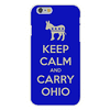 Apple iPhone 6+ (Plus) Custom Case White Plastic Snap On - Keep Calm and Carry Ohio Democrat Donkey Easy access to all buttons and ports!