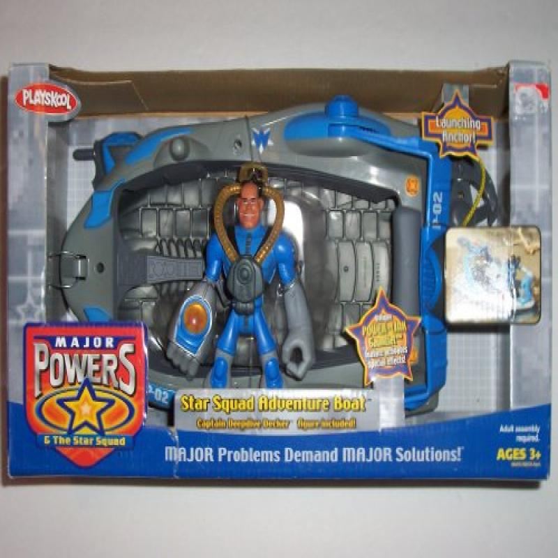 Playskool Major Powers and the Star Squad ~ Star Squad Adventure Boat with Captain Deepdive Decker Figure by