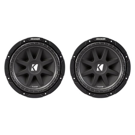 "Kicker C154 Comp 15"" 600 Watt 4 Ohm Car Audio Power Subwoofer, 2 Pack 