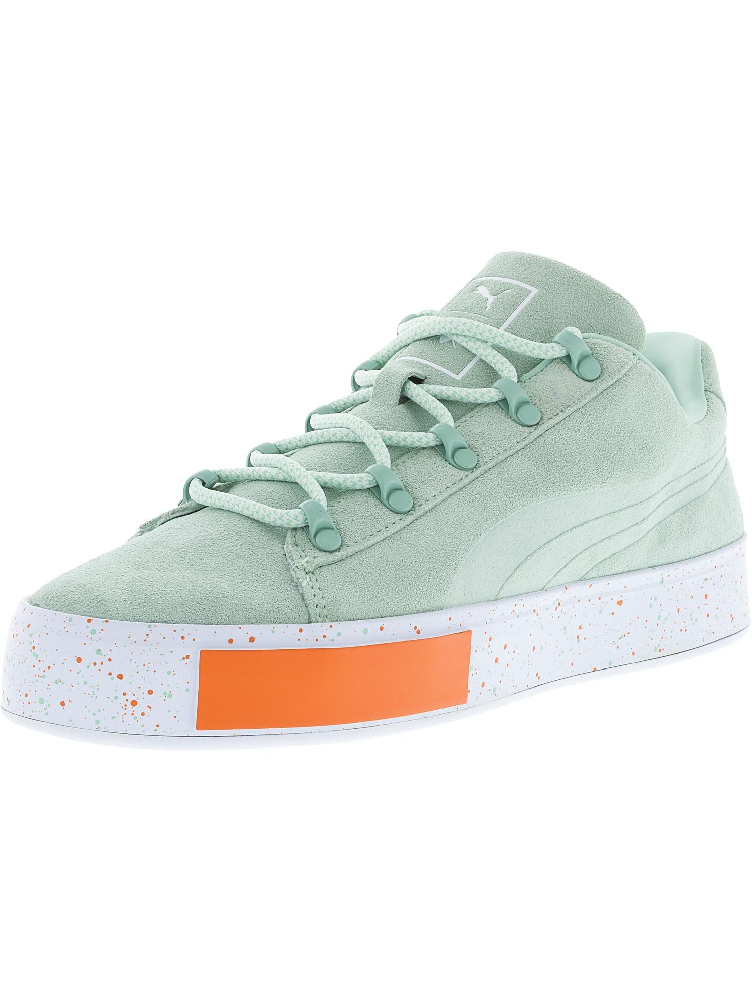 Puma Men's X Dp Court Platform Ss Gossamer Green Ankle-High Fashion Sneaker - 10M