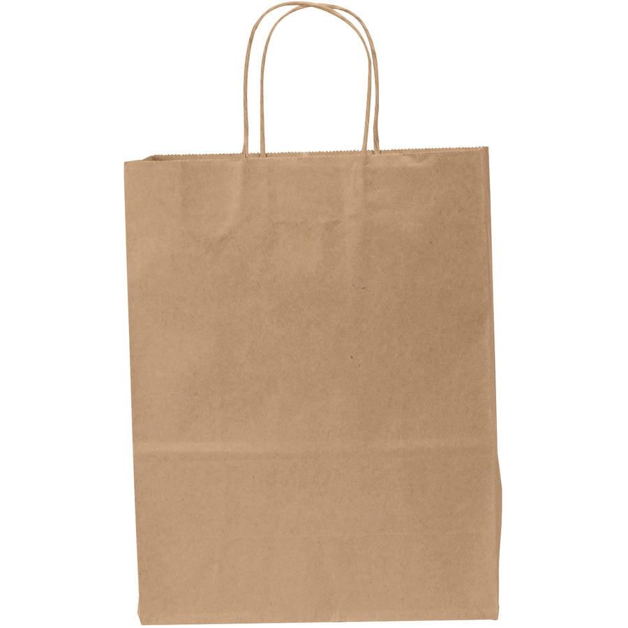 General Heavy-Duty Kraft Paper Shopping Bags, 60 pounds, ...