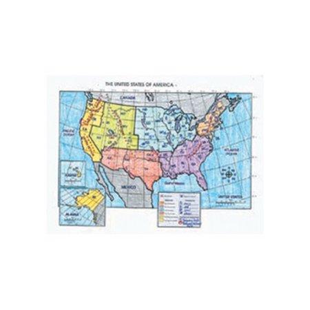 McDonald Publishing Activity The Us Poster Walmartcom - Us map poster walmart