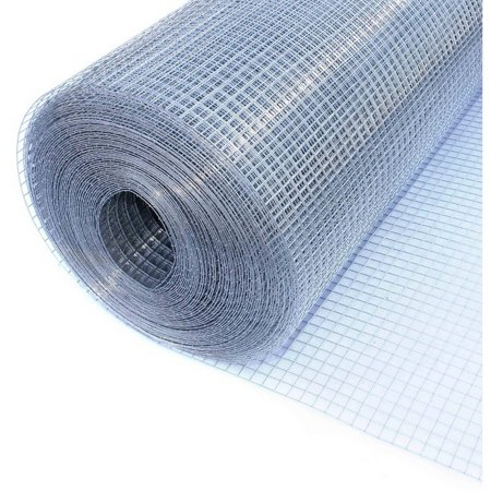 Chrome Wire Mesh (ALEKO Galvanized Metal Wire Mesh for Construction, 19 gauge Wire - 48 Inch x 100 Ft)