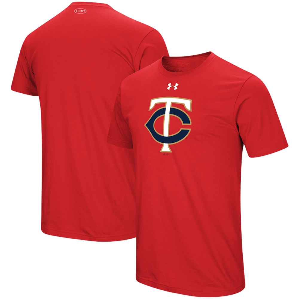 Minnesota Twins Under Armour Team Core Performance T-Shirt - Red