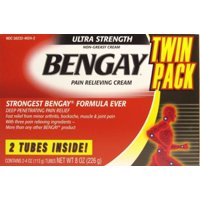 BENGAY Ultra Strength Pain Relieving Cream 2 Tubes 4oz * Twin Pack*