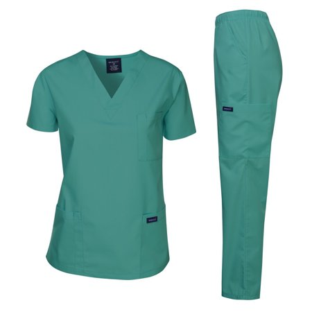 4fb1613277d DAGACCI - Dagacci Scrubs Medical Uniform Unisex Scrubs Set Medical Scrubs  Top and Pants (Teal Green, Large) - Walmart.com