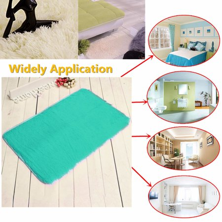 """❤ 32""""x20""""x1.8"""" Multicolors Non-slip Absorbent Soft Thick Plush Bath Mat Bathroom Floor Shower Quick Drying Rubber Luxury Anti-skid Mat Pad Rug 8 Colors ❤ - image 1 of 10"""