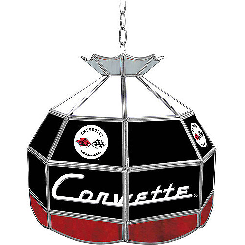 "Trademark Global Corvette C1 16"" Stained Glass Tiffany Lamp Light Fixture"