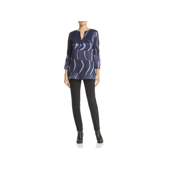 9012a0ee65d62 Lafayette 148 New York Sela Drawstring Sleeve Silk Blouse Neiman