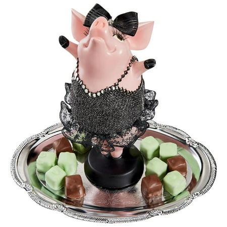 Design Toscano Hog Heaven Twinkle Toe Pig Statue