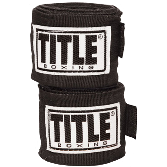 """Title Boxing 180/"""" Semi Elastic Mexican Handwraps Red"""