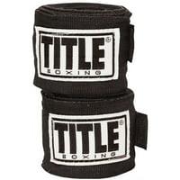 """Title Boxing 180"""" Semi Elastic Mexican Handwraps - Black"""
