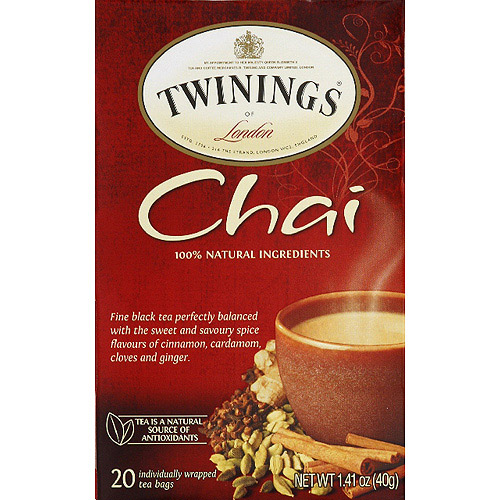 Twinings of London Chai Black Tea Bags, 1.41 oz, (Pack of 6)