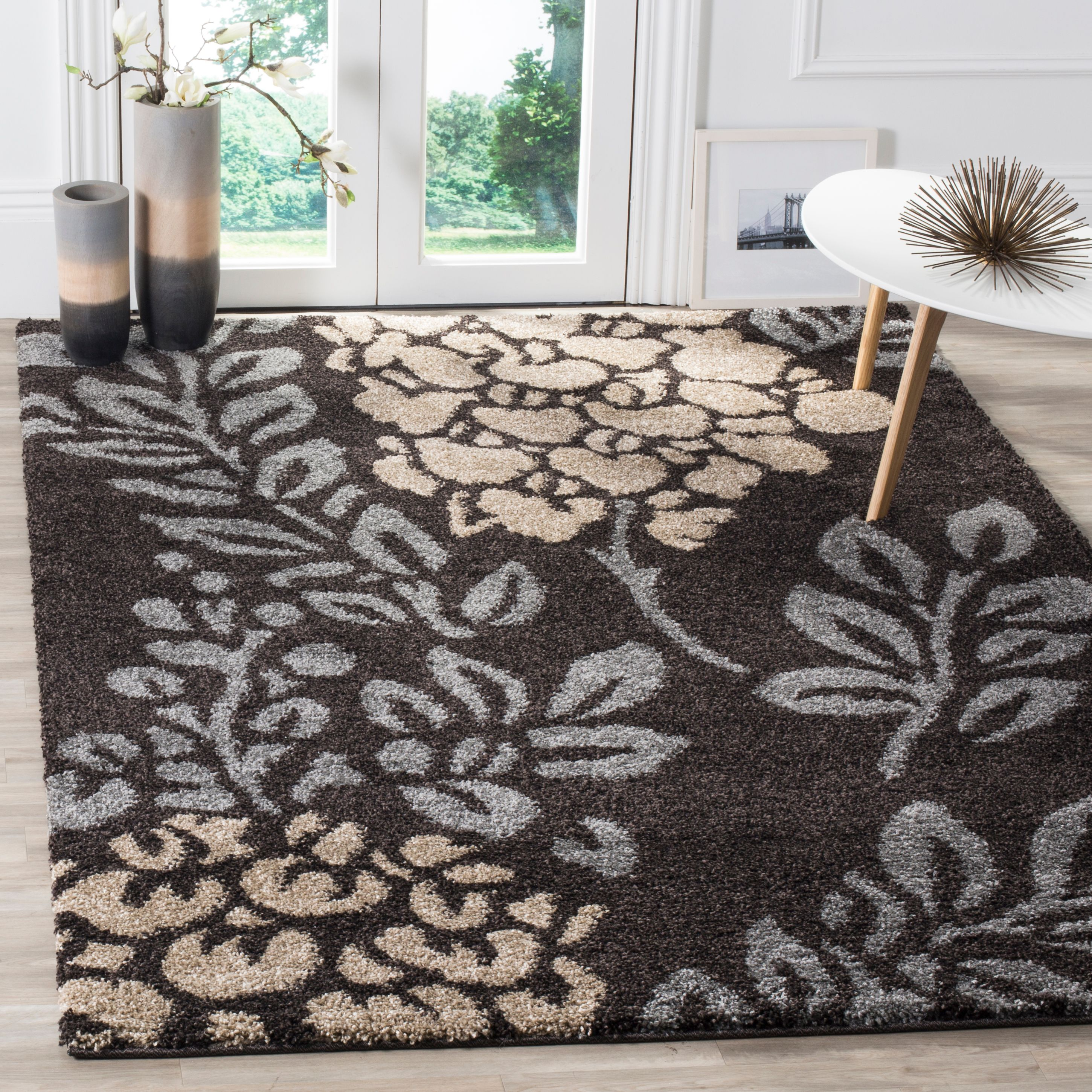 Safavieh Florida Benton Floral Shag Area Rug or Runner
