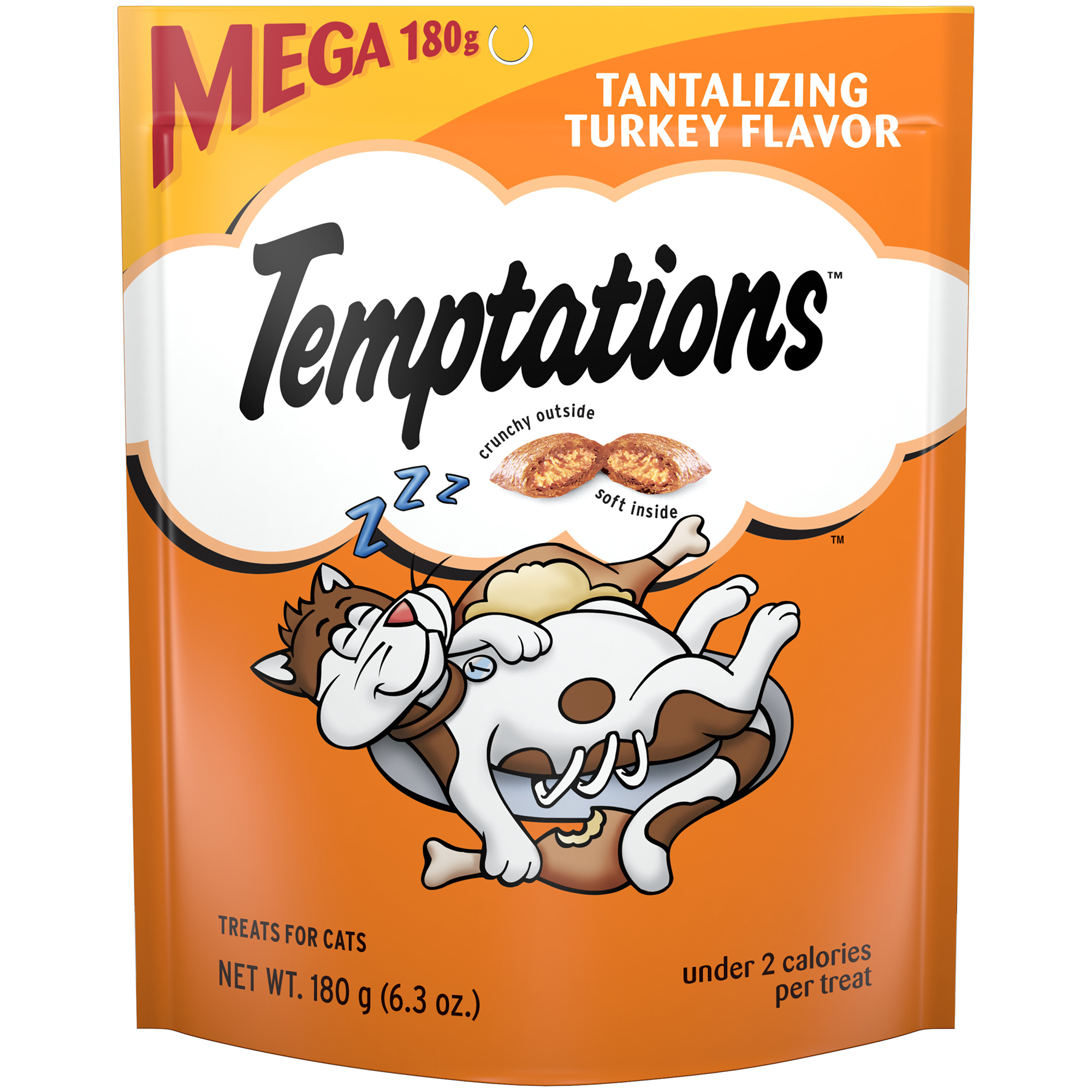 TEMPTATIONS Classic Cat Treats Tantalizing Turkey Flavor, 6.3 oz. Pouch