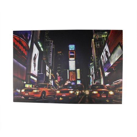 Northlight Seasonal Battery Operated 8 LED NYC Broadway Time Square Photographic Print on Canvas - Seasonal Jobs Nyc