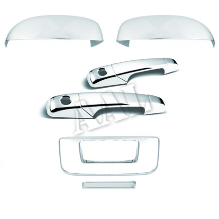 - AAL Premium Chrome Cover Combo For 2007 2008 2009 2010 2011 2012 2013 CHEVY SILVERADO UPPER MIRROR+2 Doors With PSGKH+TAILGATE
