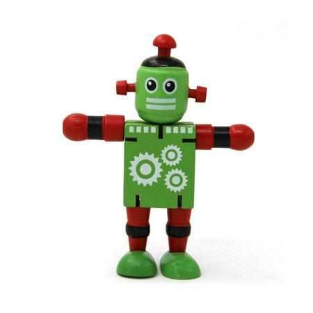 Date Early Éducatifs Jouets Creative Personnalité Building Blocks Jouets En Bois Déformation Élastique Robot Pour Enfants Décompression Jouet Cadeau - image 1 de 1