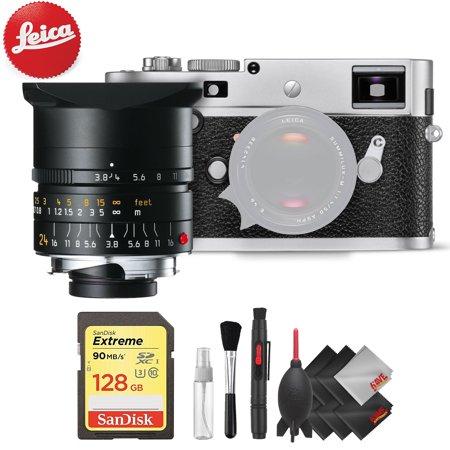 Leica M-P (Typ 240) Digital Rangefinder Camera (Silver) + Leica 24mm f/3.8 Lens (11648) + Professional Accessory