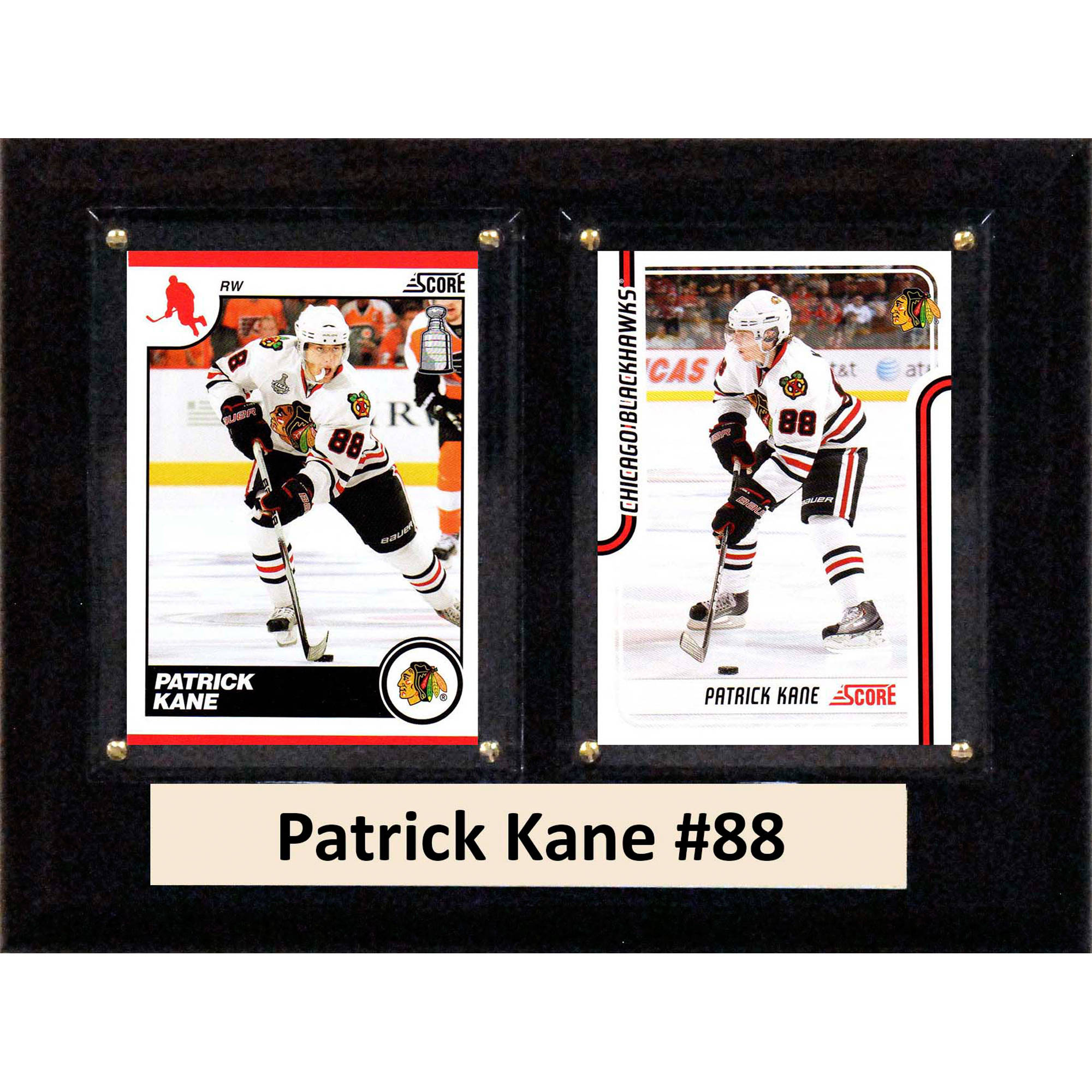 C&I Collectables NHL 6x8 Patrick Kane Chicago Blackhawks 2-Card Plaque