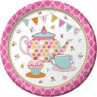 Tea Time 9-inch Plates , 2PK