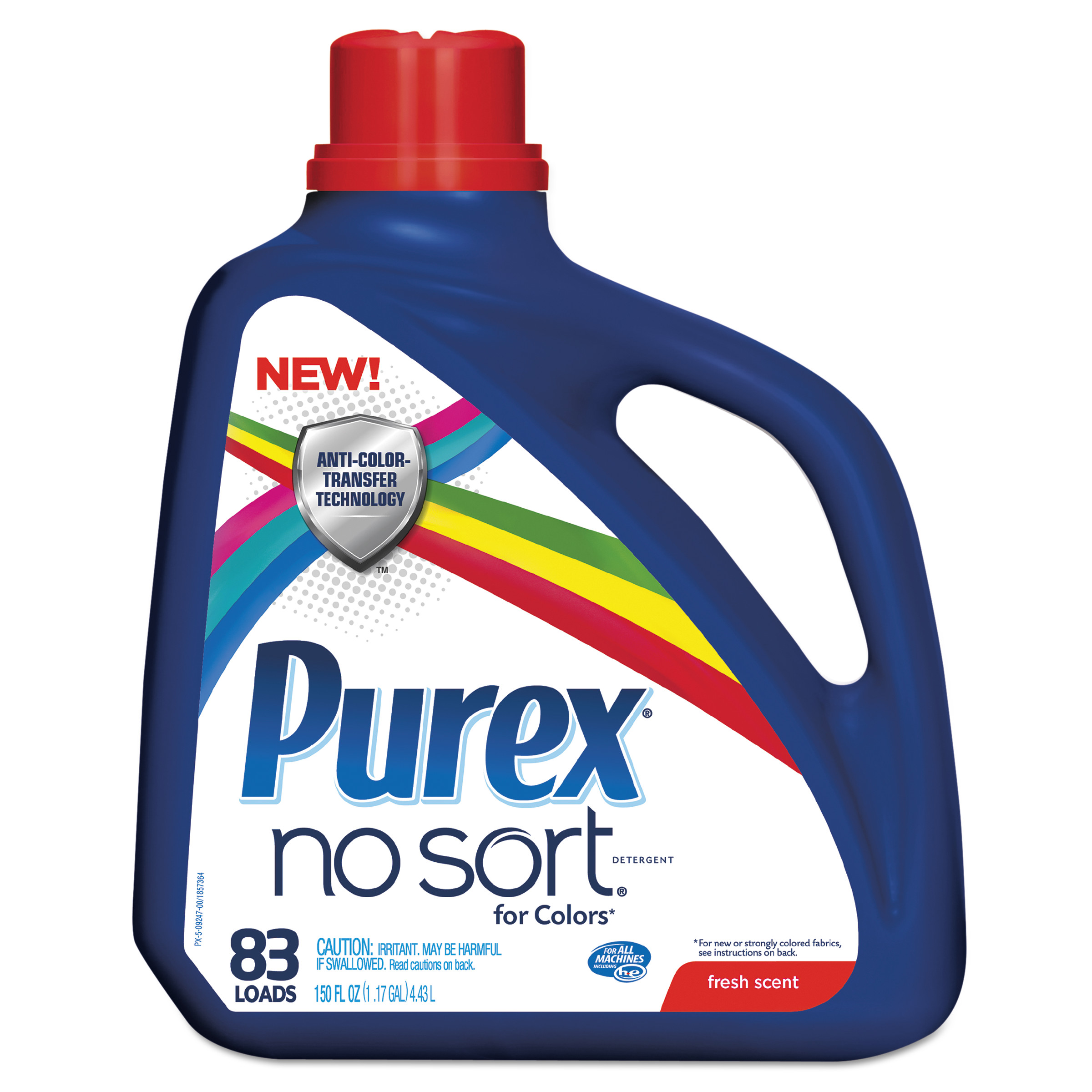 Purex No Sort Liquid Laundry Detergent, Fresh Scent, 150 oz Bottle