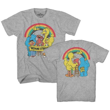 Sesame Street Rainbow Oscar Elmo Cookie Big Bird Bert Ernie Classic Retro Vintage Mens Adult - Ernie Bert Halloween