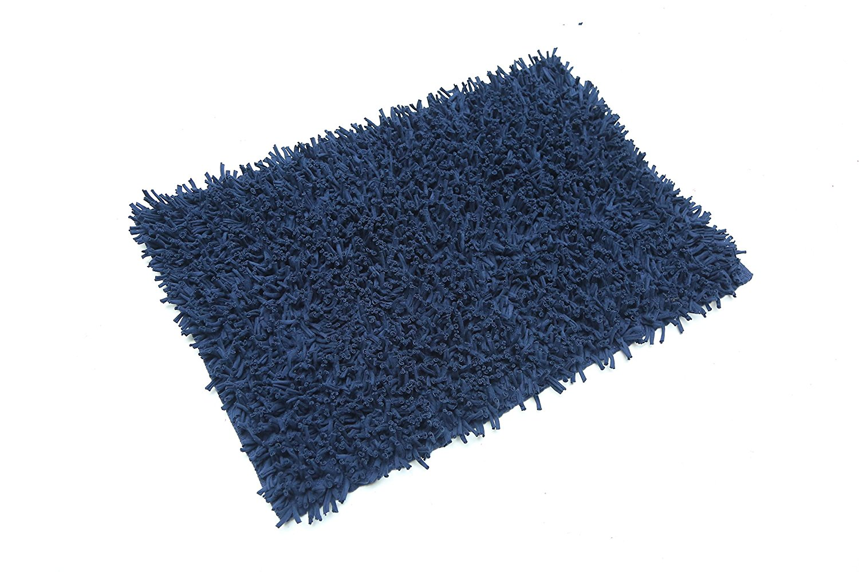 Shaggy Blue Rug 2x3 ft Shag Soft Carpet (22''x 33'') Doormat Living Room Bedroom Bathroom... by MystiqueDecors