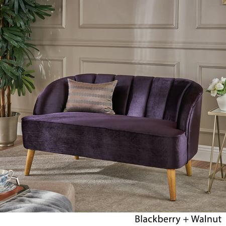 Pleasant Christopher Knight Home Amaia Modern Velvet Loveseat Sofa By Purple Lamtechconsult Wood Chair Design Ideas Lamtechconsultcom