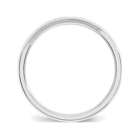USA - 14k White Gold 3mm Bevel Edge Comfort Fit Band Size 4 - image 2 de 4