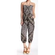 Free People NEW Black White Women's Size Small S Shirred Printed Jumpsuit