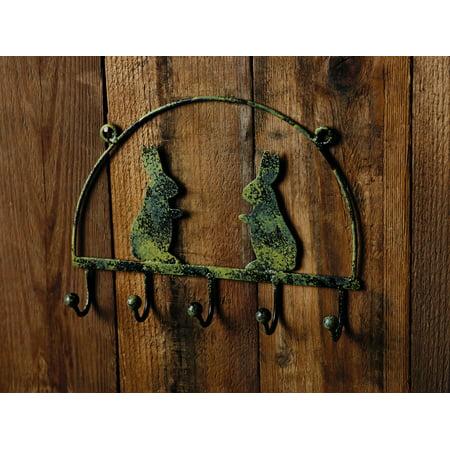 Antique Green Rabbit Hook