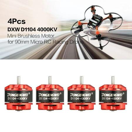 4Pcs DXW D1104 4000KV 1-3S Mini Brushless Motor for 90mm Micro RC Racing Drone