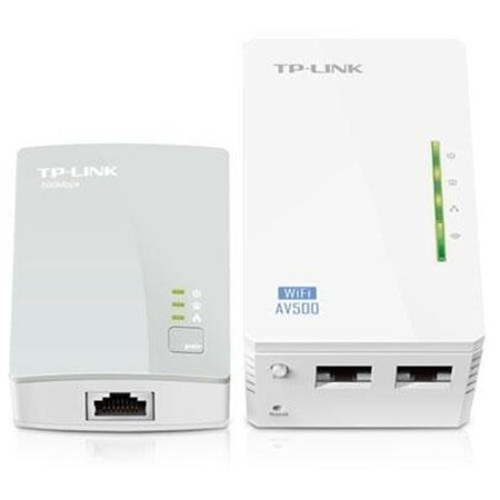 Tp Link 300Mbps Av500 Wifi Powerline Extender Starter Kit   2 X Network  Rj 45    500 Mbps Powerline   984 25 Ft Distance Supported   Ieee 802 11N   Homeplug Av   Fast Ethernet  Tl Wpa4220kit